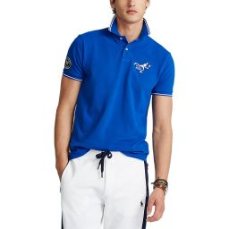Polo Ralph Lauren Men's Polo Shirt with Tennis Player Embroidery  - Pacific Blue
