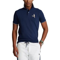 Polo Ralph Lauren Men's Polo Shirt with Tennis Player Embroidery  - Navy