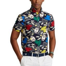Polo Ralph Lauren Men's Slim Fit Polo Shirt - Tennis Pattern