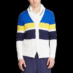 Polo Ralph Lauren Men's Shawl Collared Sweater - Multi