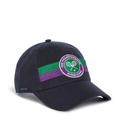 Wimbledon Stripe Logo Baseball Cap - Midnight