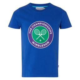 Kids Championships Logo T-Shirt - Ocean Blue