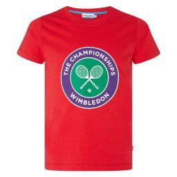 Kids Championships Logo T-Shirt - Blazing Red