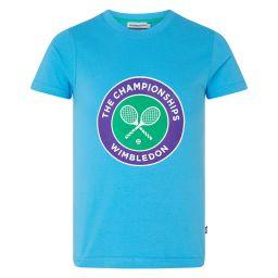 Kids Championships Logo T-Shirt - Sky Blue