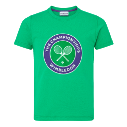 Kids Championships Logo T-Shirt - Bright Green