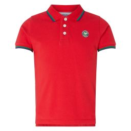 Kids Classic Polo with Championships Logo Embroidery - Red
