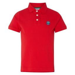 Kids Classic Polo with Championships Logo Embroidery - Mars Red