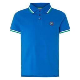 Kids Classic Polo with Championships Logo Embroidery - Royal Blue