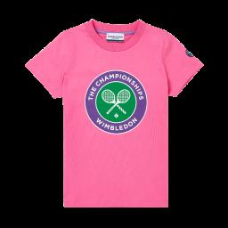 Kids Championships Logo T-Shirt - Azalea Pink