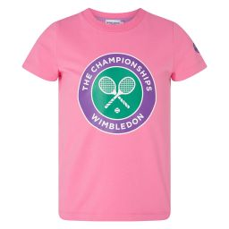 Kids Championships Logo T-Shirt - Bubblegum