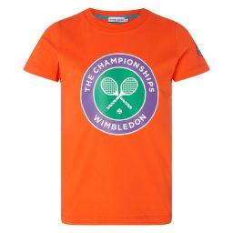 Kids Championships Logo T-Shirt - Cherry Tomato