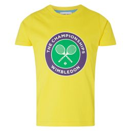Kids Championships Logo T-Shirt - Lemon
