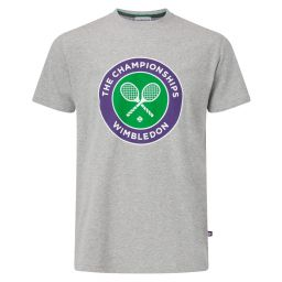 Men's Championships Logo T-Shirt - Grey Marl
