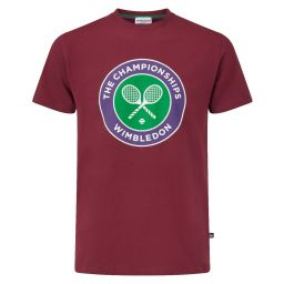 Men's Championships Logo T-Shirt - Oxblood