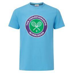 Men's Championships Logo T-Shirt - Sky Blue