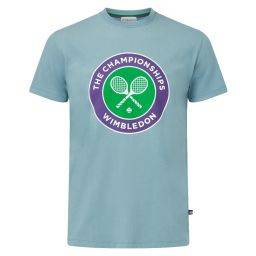 Men's Championships Logo T-Shirt - Smoke Blue