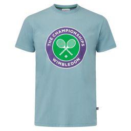 Men's Championships Logo T-Shirt - Smoke Blue