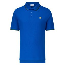 Men's Classic Polo with Championships Logo - Lapis Blue