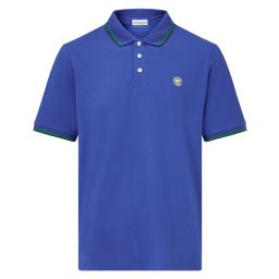 Men's Classic Polo with Championships Logo Embroidery - Ocean Blue