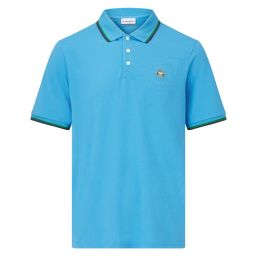 Men's Classic Polo with Championships Logo Embroidery - Sky Blue
