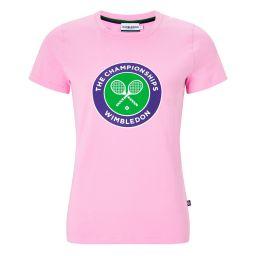 Women's Championships Logo T-Shirt - Begonia Pink