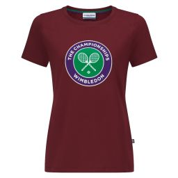 Women's Championships Logo T-Shirt - Oxblood