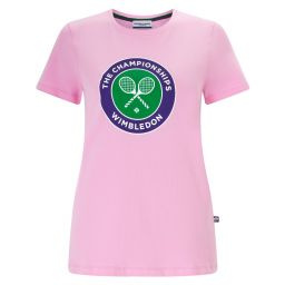 Women's Championships Logo T-Shirt - Powder Pink