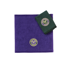 Wimbledon Face Towels Green & Purple Twin Pack