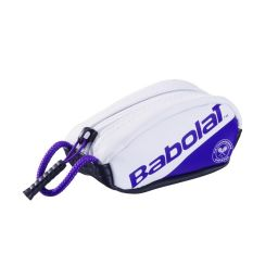 Babolat Mini Racket Holder Keyring - White & Purple