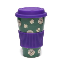 Polka Balls Patterned Bamboo Mug