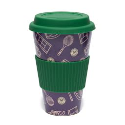 Tennis Patterned Bamboo Mug