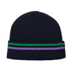 Wimbledon Stripe Ribbed Wool Beanie