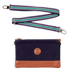 Wimbledon Canvas Clutch - Navy