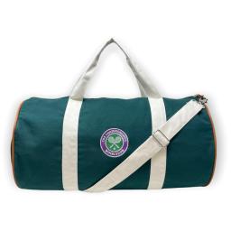 Wimbledon Duffle Bag - Deep Green and Natural