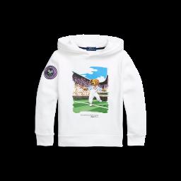 Polo Ralph Lauren Kids Polo Bear Fleece Hoodie - White