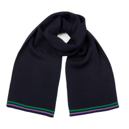 Wimbledon Stripe Ribbed Wool Scarf