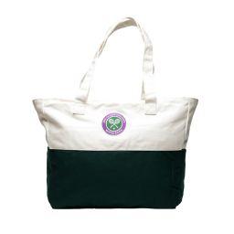 Wimbledon Tote Bag - Cream and Green