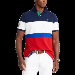 Polo Ralph Lauren Men's Custom Slim Mesh Polo Shirt - Navy