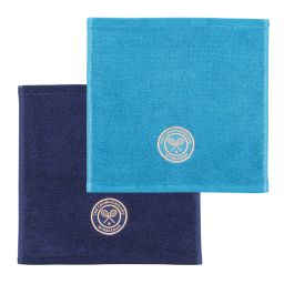 Wimbledon Face Towels Seasonal Blues Twin Pack
