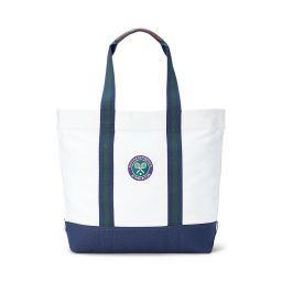 Polo Ralph Lauren Large Canvas Tote - White & Navy